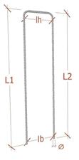 tuteur en acier cranté en forme de U